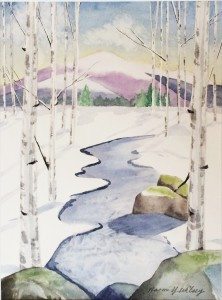 """Birch Brook"" Blank note card with envelope, 5"" x 7"""
